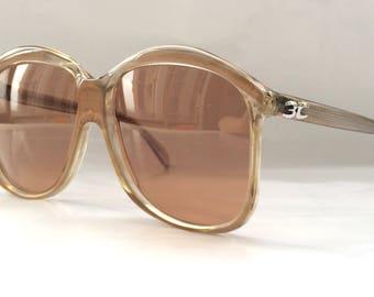 80s Vintage German Köln Optik Metallic Brown Big Oversized Sunglasses