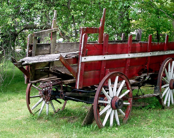 Farm Wagon by Brenda Salyers Fine Art Giclee Print on Paper or Canvas Custom or Framed Orders Welcome