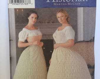 Crinoline Petticoat Pattern Uncut FF Simpicity 7216 28 30 32 34 waist medium large extra large plus size Fashion Historian Martha McCain