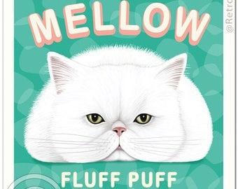11x14 Cat Art - Marsh MELLOW - Art print by Krista Brooks