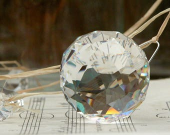 5 gorgeous full lead crystal balls lamp chandelier parts