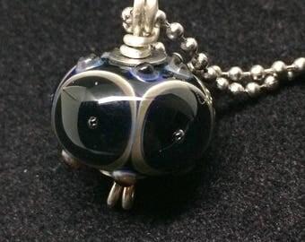 Glass Owl Eyes Pendant