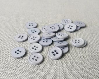 """12 Cirrus Grey 1/2"""" (13 mm) buttons"""