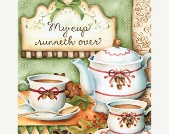 25% OFF PRINTS Autumn Tea 8x10 Art Print