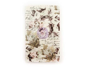 Floral & Script Personal Size Prima Traveler's Journal Refill Notebook (599881)
