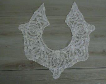 Antique Vintage Lace Collar Battenburg Lace