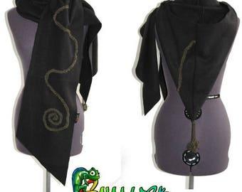 customisable Pixie hood scarf