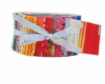 Sun Kissed/Jelly Roll/Moda Precut/Quilting/Moda Jelly Roll/Fabric/strips/fabric strips/quilting fabric/Moda Batik Jelly Roll/Batik Fabric