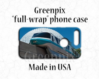 Disney monorail phone case for Google Pixel, Disney Pixel XL phone case, Spaceship Earth phone case, EPCOT phone case, blue phone case
