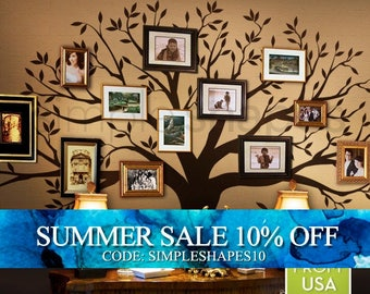 Wall Decals Murals Tree Wall Decal, family Tree Wall Decal Sticker - Living Room Wall Decals - wall graphic