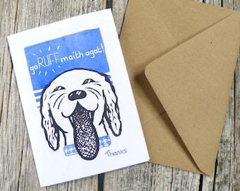 Laughing Dog Irish Language Thank You Card