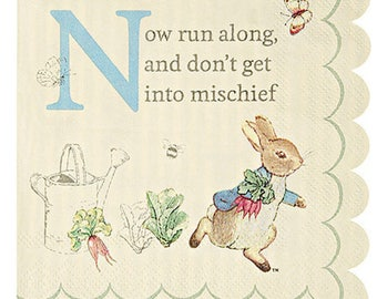 Beatrix Potter Peter Rabbit Small Scallop Napkins by Meri Meri