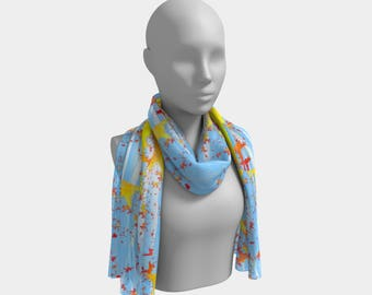Migrating Autumn Leaves Long Scarf