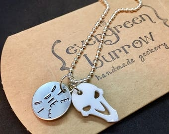 Reaper Overwatch Inspired Hand Stamped Pendant