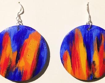 BOHEMIAN EARRINGS, DANGLE Earrings, Boho Earrings, Statement Earrings, Bohemian Jewelry, Circle Earrings, Gypsy Earrings, Bohemian