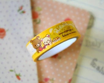 06 Rilakkuma Bear Cartoon Washi Masking Tape