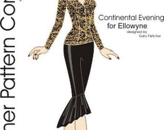 "PDF Continental Evening Pattern for 16"" Ellowyne Dolls Tonner"