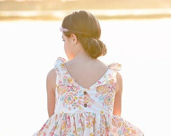 Versailles Dress and Maxi Dress PDF Sewing Pattern, including sizes 12 months - 12 years, Tween Pattern, Girls Dress Pattern