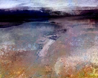 Moorland Colours - Abstract Photo-Art - Large format 80 x 60 cms. Acrylic Panel