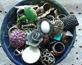 50 Rings - Craft Destash Lot - Vintage and Modern Rings - Upcycle - Craft - Costume - Just Because Rings - All Wearable Rings - R1