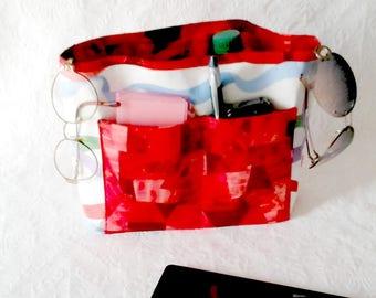 Bag Insert Organizer, Removable Insert, Handbag Stuffer, Fabric Insert Organizer, Purse Insert Liner, Pocketbook Insert, Handmade Organizer