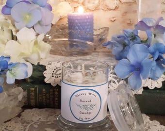 3.oz Sacred White Sage Candle, Smudging Candle, Jar Candle, Cleansing Candle, Altar Candle