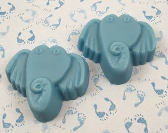 Elephant Soap | Baby Shower Soap Favor | Blue Soap | Animal Soap | Party Favor Soap | Baby Soap | Soap for Kids | Guest Soap | Handmade Soap