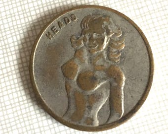 Vintage Nude Woman Chance Coin