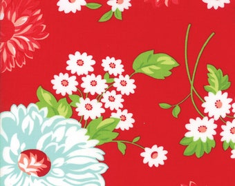 Floral Scrumptious Red from Good Life Collection by Bonnie and Camille for Moda Fabrics