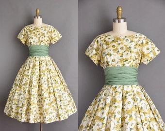Jonathan Logan 1950s vintage floral print dress in a soft polished cotton