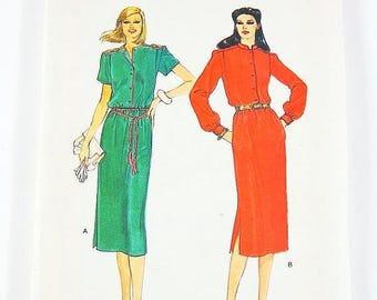 On Sale Vogue 80s Dress Pattern 7426 - Misses' Dress in 2 Variations - Size 12