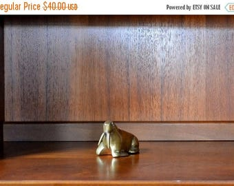 SALE 25% OFF vintage brass walrus figurine