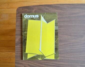 vintage midcentury modern DOMUS architecture magazine - 1963 / midcentury modern architecture