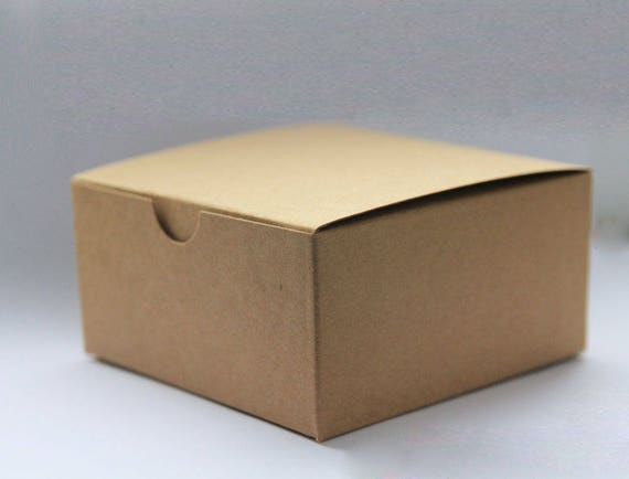 Set of 25- 5x5x3 inch Kraft Gift Boxes - Paper Boxes, Wedding Favor Boxes, Kraft Gift Boxes, Brown Box, Party Favor Boxes, Valentine Boxes