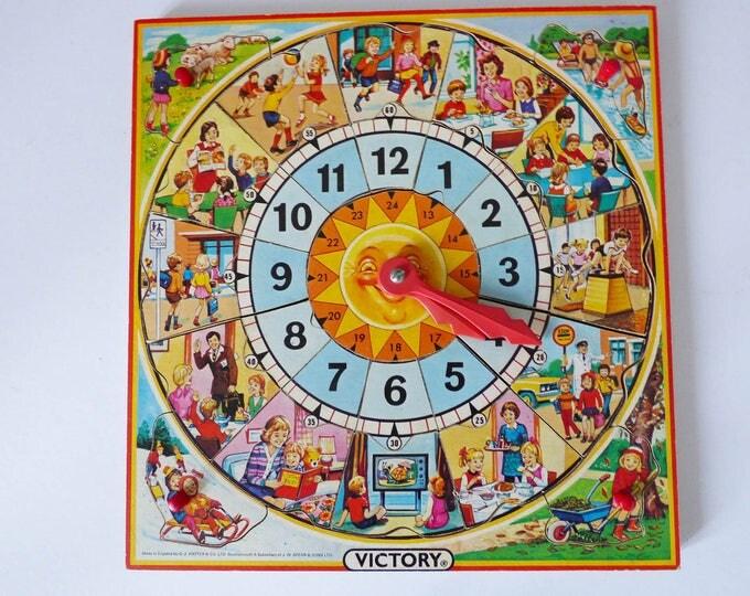 Vintage wooden Victory clock puzzle
