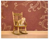Cute animal art print with a rabbit - A Room of Rabbit's Own