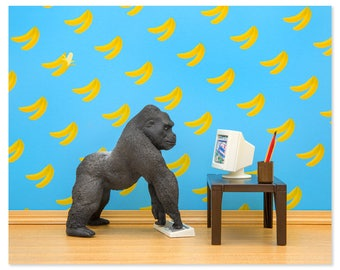 Gorilla animal art print: Gorilla Art