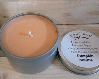 6 OZ Soy Candles in Travel Tins- Handmade - Scented - FREE SHIPPING