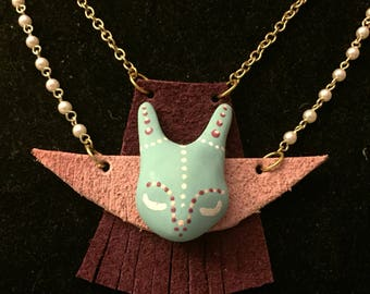 Double Chain Dainty Bunny Necklace