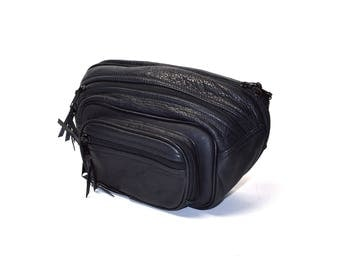 AWESOME Leather Fanny Pack with Adjustable Nylon Strap