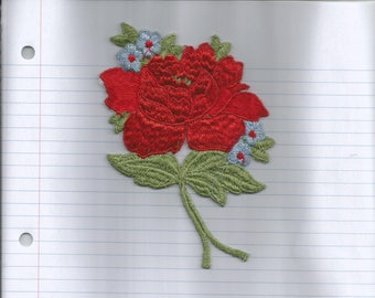 Large Red Rose Applique