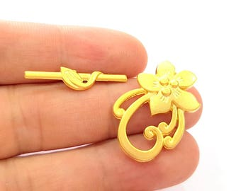 Gold Plated Toggle Clasp Findings  G8147