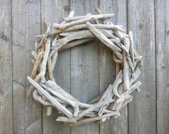 "Oregon Coast Driftwood Wreath 20"""