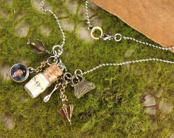 Mary Poppins Spoonful of Sugar Bottle Charm Necklace