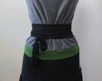 Gray color tube top with green color decoration plus made in USA (V164)