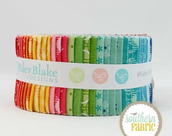 "Bee Basics - Jelly Roll by Lori Holt for Riley Blake - 40- 2.5""x44"" Quilting Fabric Strips (RP-6400-40)"