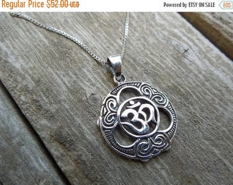 ON SALE Om necklace in sterling silver 925