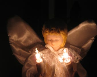 Lighted Christmas Tree Topper Angel