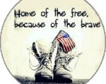 "50% off Snap Charm, ""Home of the Free because of the Brave"" 20 mm snap fits regular Ginger Snaps Jewelry plus other 18-20 mm snap jewelry."