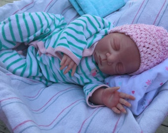 Hand painted beautiful baby girl reborn doll